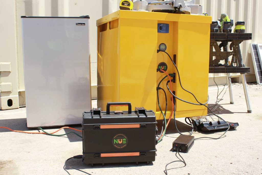 Portable solar generator and power station by NUE