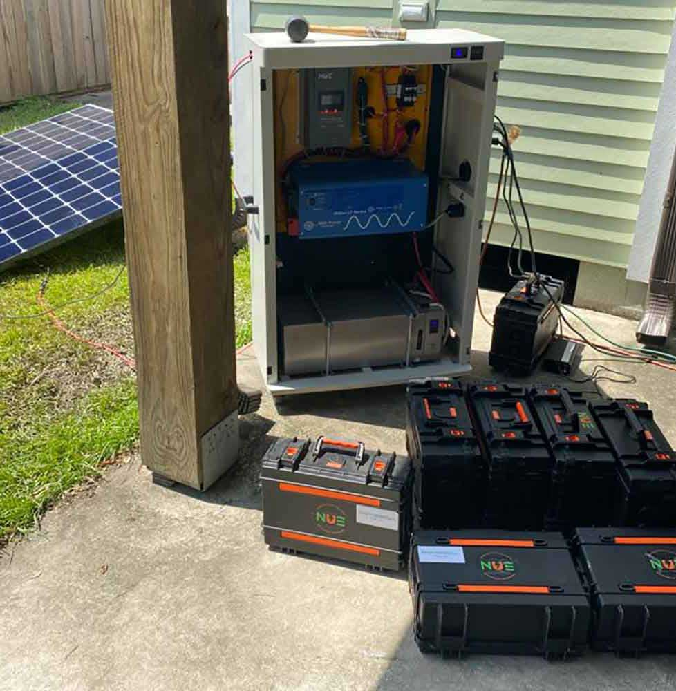 Mobile solar and lithium battery solutions