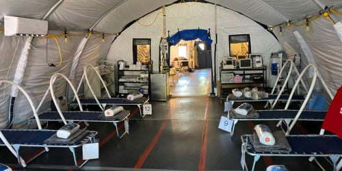 The first solar-powered COVID clinic in Matamoros, Mexico